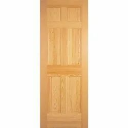 Brown Laminated Pine Wood Flush Door