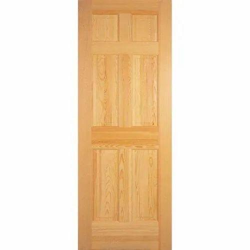 Brown Laminated Pine Wood Flush Door