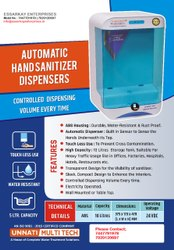 Automatic Hand Sanitizer Dispenser Unit 5 Ltr Tank