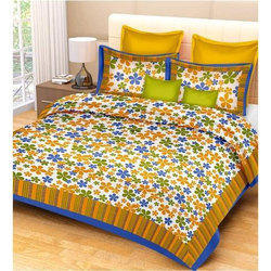 Double Bed Printed Floral Bedsheet