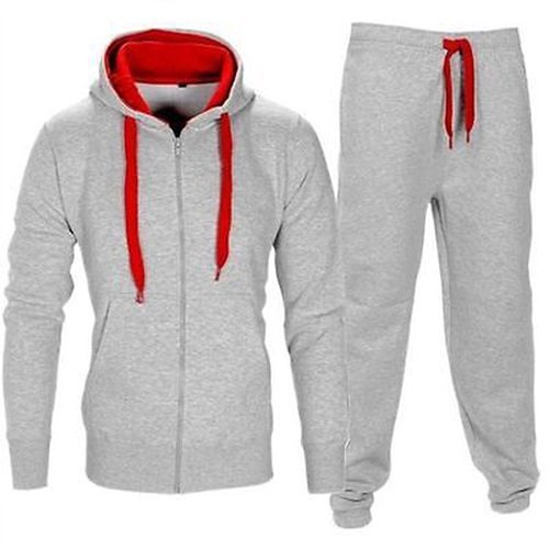 e439b8cb Small , Medium Grey Mens Hooded Tracksuit, Rs 800 /set | ID: 18203946430
