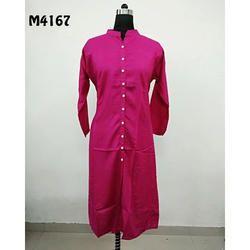 Solid Cotton Designer Kurti