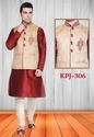 Mens Festive Silk Indian Kurta Pyjama With Jacket