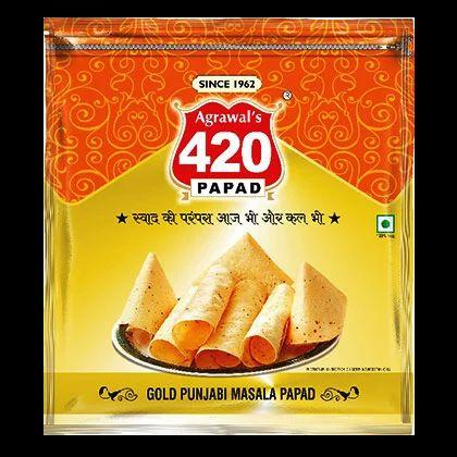 420 Metalised - Gold Punjabi Masala Papad - Agrawal Papad