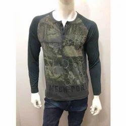 Men's Cotton Full Sleeves T Shirt, Size: S-L
