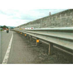Three Beam Single Sided Crash Barrier
