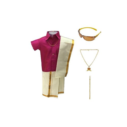 Boys Plain Shirt And Dhoti Set, Age Group: 6 Month - 11 Year