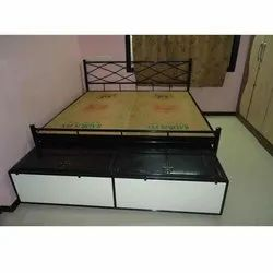Under Bed Trolley With Sheet Top and Bottom Operating From Foot Rest