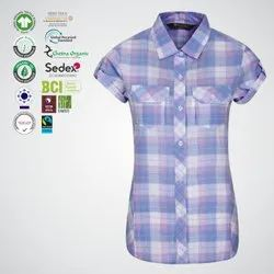 Oeko Tex Certified Ladies Half Sleeve Shirts