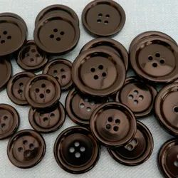 Brown Plastic Coat Buttons For Coats, Size/Dimension: 20-30 Mm