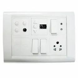 Plastic Electrical Switch Board, 4, Ip65