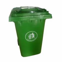 Green Open Top Plastic Outdoor Dustbin, Capacity: 60 - 120 Liters