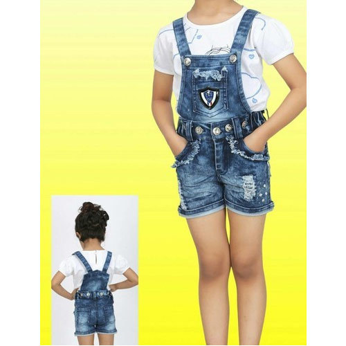 b3e27d619a23f Denim, Cotton Baby Girl Top With Dongri Set, Age: 4-7 Years, Rs 319 ...