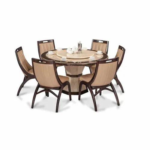 Hudson Mark Wooden Modern Round Dining, Round Kitchen Table Set With 6 Chairs