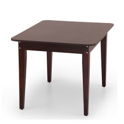 Beech Wood Square Compact Dining Table for Hotel