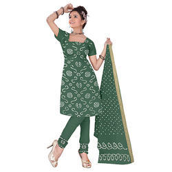 Bandhani Sea Green Suit