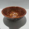 Brown Ceramic Wash Basin