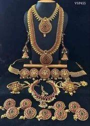 Golden Brass Ladies Bridal Jewellery
