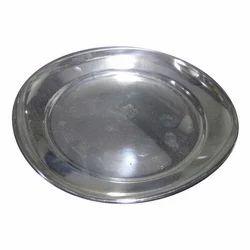 Taluka Silver Steel Dinner Plate