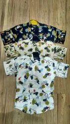 Cotton Party Wear Children Casual Shirt