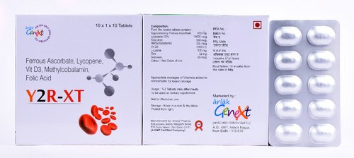 Ferrous Ascorbate Lycopene & Vit D3 Methylcobalamin Folic Acid