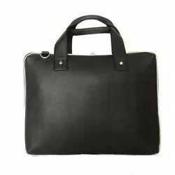 Black 15 Inch Men's Leather Laptop Bag, Capacity: 1