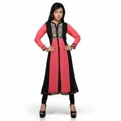 JBN Casual Wear Ladies Full Sleeve Rayon Kurti, Size: S-XL, Wash Care: Handwash