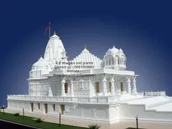 White Marble Temple Construction, Big Temple Construction , Marble temple