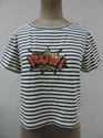 Cotton Slub Stripe Knits T-Shirt