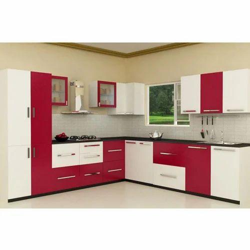 L Shape Modular Kitchen एल शेप मॉड्यूलर किचन एल आकार की