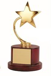 10 Inches Star Brass Trophy