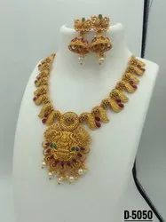 Matte Finish Hasli Jewellery Set - D 5053