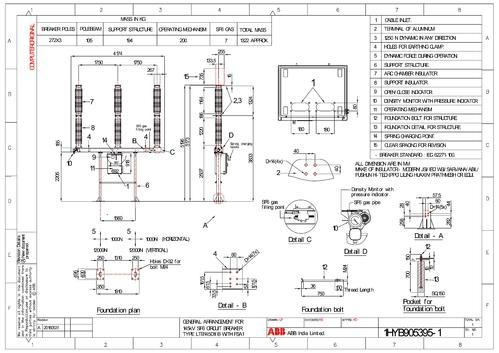 ht 132 kv sf6 breaker outdoor type abb make at rs 650000 ... marine dash panel wiring diagram