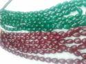 Dyed Corundum Ruby Beads