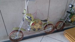 4ft Clock Green Motorcycle With Headlight