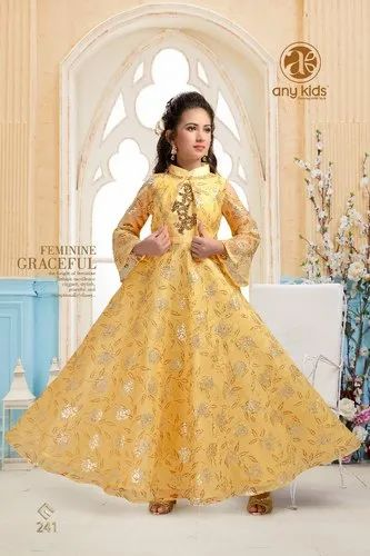 Kids Anarkali Long Gown