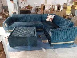Blue Modern JMD New Gold Sofa, For Home