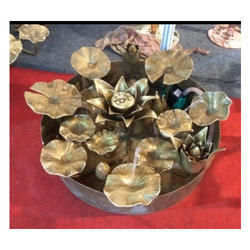 Brass Lotus Fountain Sculptor, Size: 36 inch