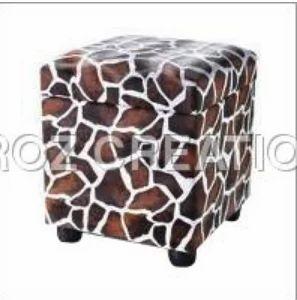 Magnificent Multi Color Leather Cube Chair Imroz Creations Private Creativecarmelina Interior Chair Design Creativecarmelinacom