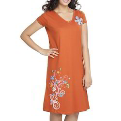Cotton Orange Night Wear