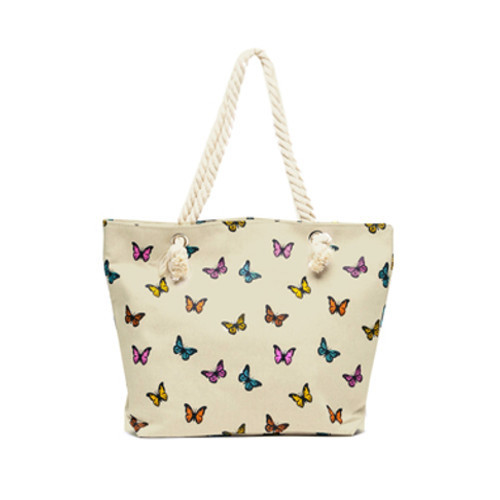 6cbf5adcb2 Butterfly Print Canvas Bag at Rs 70  piece
