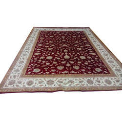 Multicolor Embroidered Hand Tufted Persian Carpet, Size: 4*6 Feet