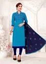 Glace Cotton Ladies Churidar Suits Collection