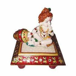 Hastkala Arts Marble Laddu Gopal Statue for Pooja