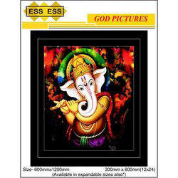 ESS ESS Ceramic Ganesha 3D God Picture Wall Tile, Size: 600mmx1200mm and 300mmx600mm