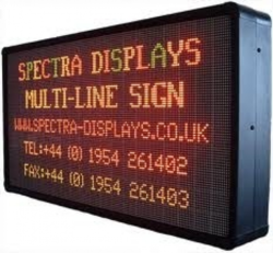 LED Moving Display Board (Multi Line & Color)