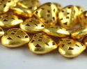 Heart Casting Center Drilled Gold Plated Copper Beads