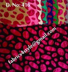 Velvet Embroidered Fabrics