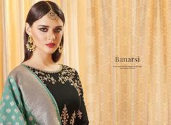 Aashirwad Banarsi Series 8064-8067 Stylish Party Wear Georgette Suit