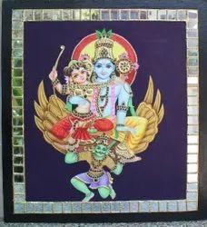 Garuda sevai Tanjore Painting